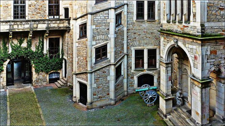Im Innenhof von Schloss Bückeburg