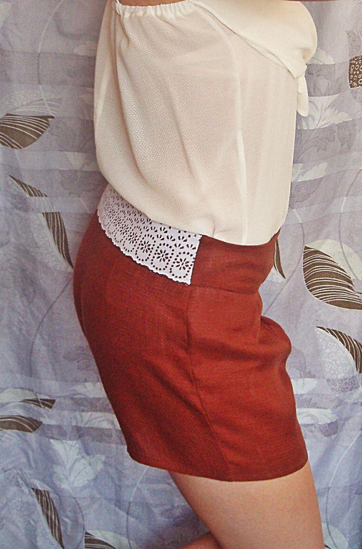 Kratke nohavice krajka