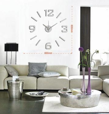 Moderní samolepící hodiny ve stříbrné barvě. Číslice jsou pravidelně uspořádané do kruhu. Hodiny můžete umístit dle svých představ na plochu a vytvořit tak nevšední a stylový interiér. Hodinový strojek lze na stěnu zavěsit na háček. Hodiny jsou nejen praktickým, ale především designovým doplňkem Vašeho interiéru.