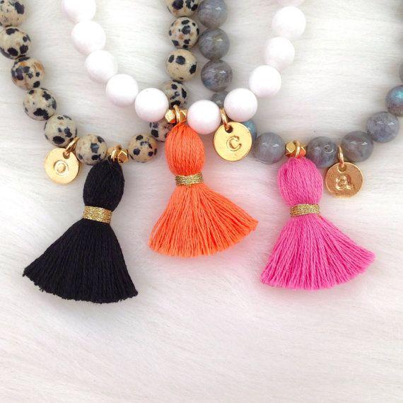 Add-on Initial Charm for Tassel Bracelets by LovesAffect on Etsy
