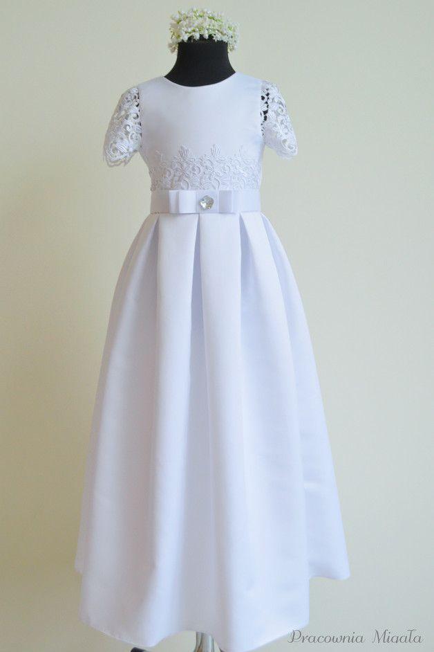 Sukienka Komunijna Sk002 Rozm 134 Pracownia Migala Sukienki Dla Dziewczynek Dresses Flower Girl Dresses Fashion