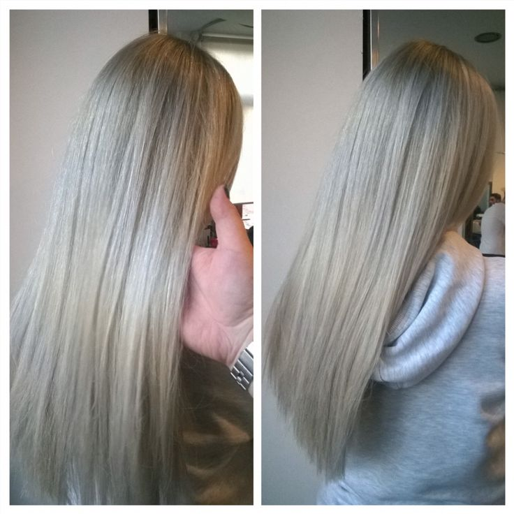 Hair by Penny Voudouri  Color correction - from brassy to ashy