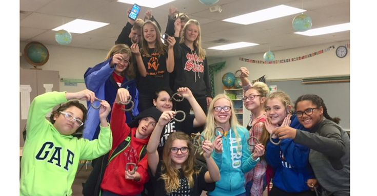 """Once again, Mount Vernon Middle School seventh-graders honored veterans, active service personnel, military families and first responders by making paracord bracelets for """"Operation Gratitude,"""" and instructor Brittany Sivewright said this year the entire school got into the act."""