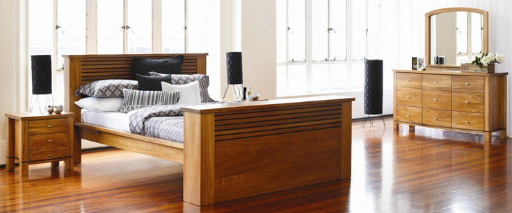 Vision Bedroom Furniture by Ezirest Furniture-Pacific Kauri range from Harvey Norman New Zealand