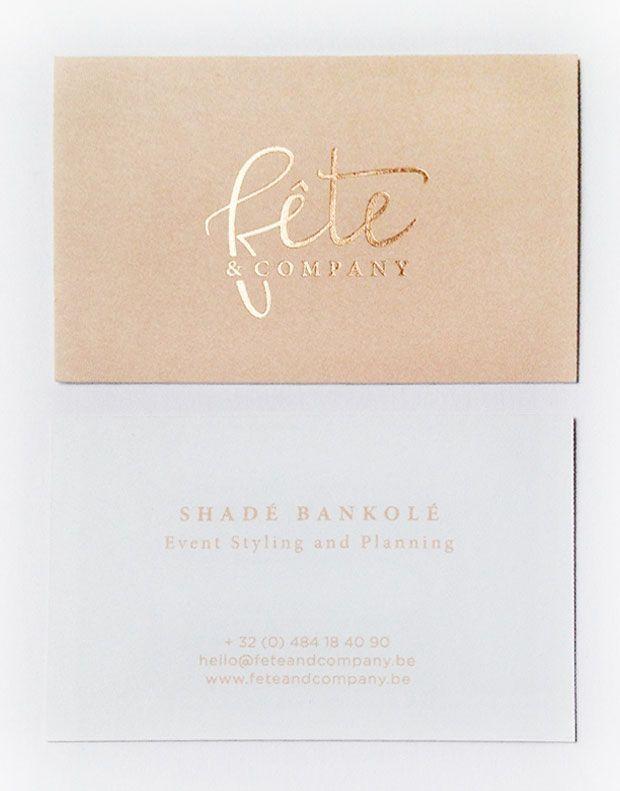 Fête & Company Business Card