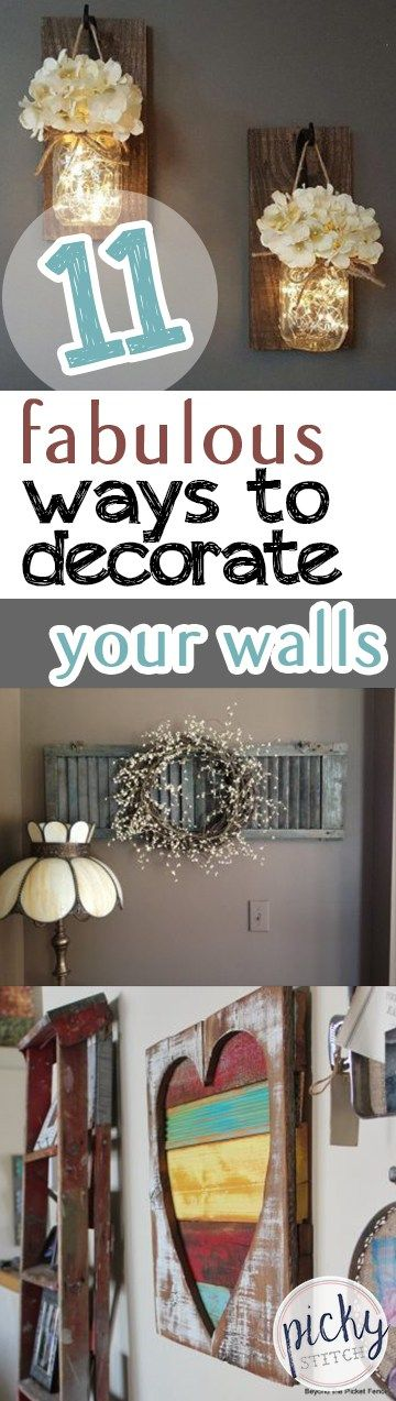 Decorate Your Walls, How to Decorate Your Walls, Easy Ways to Decorate Your Walls, Wall Decor, DIY Wall Decor, Homemade Wall Decor, Easy to Make Home Decor, Wall Decor Tutorials, Popular DIY