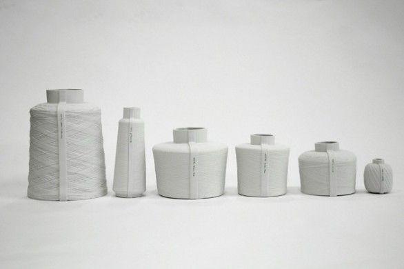 """La collezione di vasi di ceramiche """"Spools"""""""