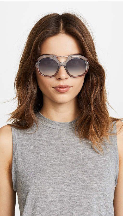 34695df4a8 Fendi Thick Aviator Sunglasses