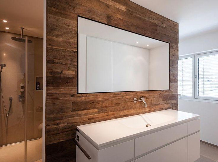 Altholz-Braun, Grau und Edelstahl - so geht einrichten Schreinerei - grau braun einrichten penthouse