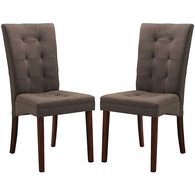 Captivating Baxton Studio Anne Brown Dining Chairs (Set Of 2) By Baxton Studio