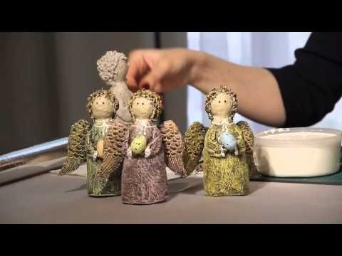 «Ручная работа». Пасхальный ангел из папье-маше (20.04.2016) - YouTube