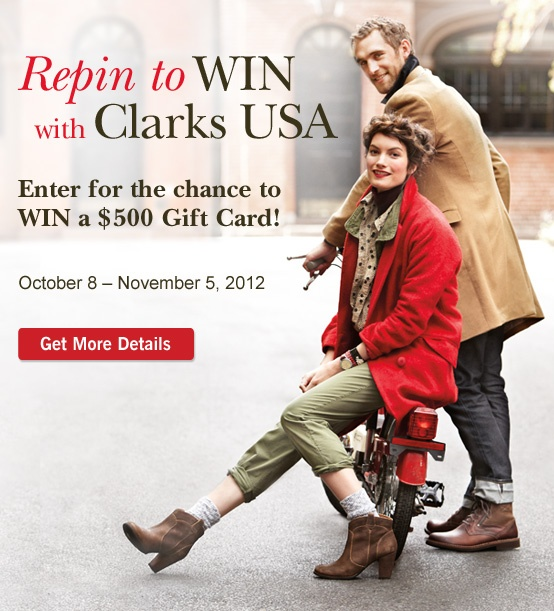 #repinclarks | Repin to Win with Clarks USA