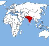 Ареал бенгальской лисицы