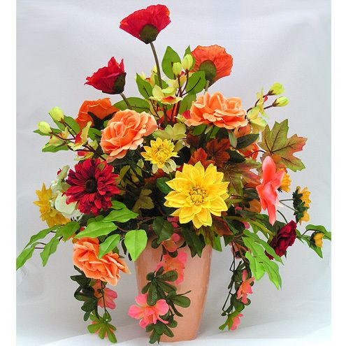 100 ideas to try about rustic floral arrangements for Fall fake flower arrangement ideas