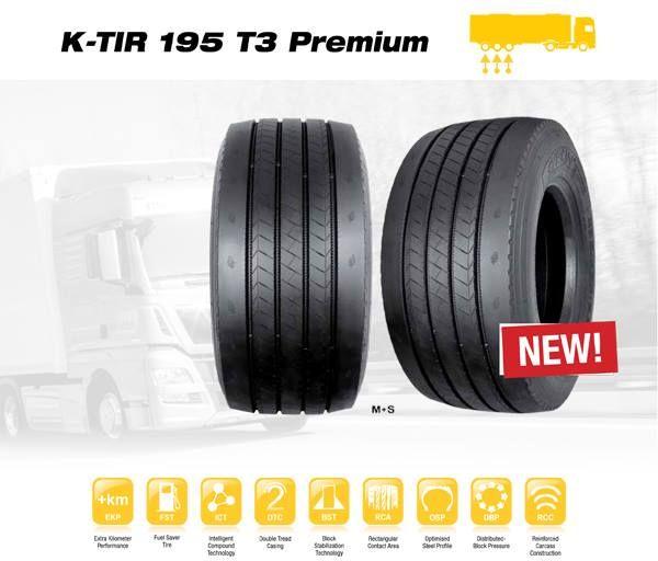 LKW-Reifen K-TIR 195 T3 Premium Syron Hochleistungsreifen