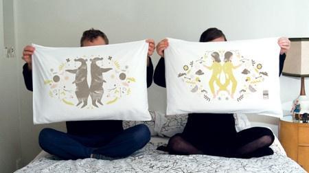 Bear & Girl Dream Pillowcases from lovemylove.com.au