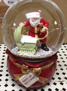 Baby's First Christmas with Santa Water Globe with Glitter Snow ...
