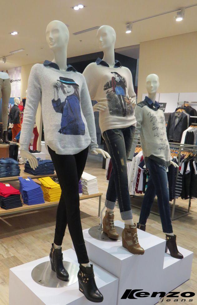 Los sweaters con imágenes y textos se imponen esta temporada. ¿Ya tienes el tuyo?#KenzoJeans