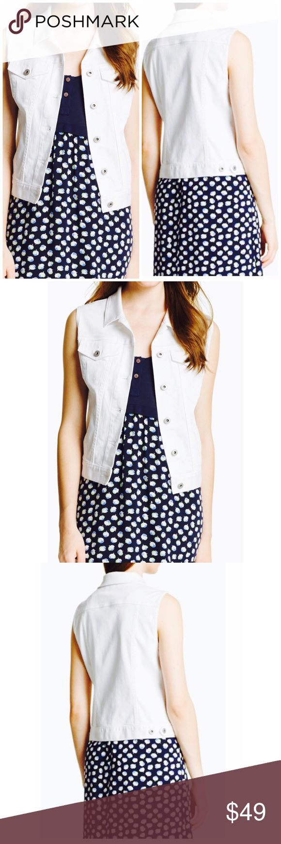 Two by Vince Camuto White Vest! Two by Vince Camuto White denim vest! Two by Vince Camuto Jackets & Coats Vests