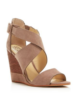 VINCE CAMUTO Milena Strappy Wedge Sandals | Bloomingdale's