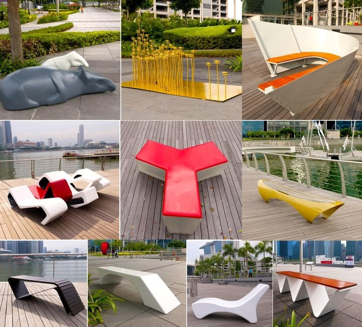 Stroll along the Marina Bay Waterfront Promenade and take a seat on its 10 new creative street furniture!