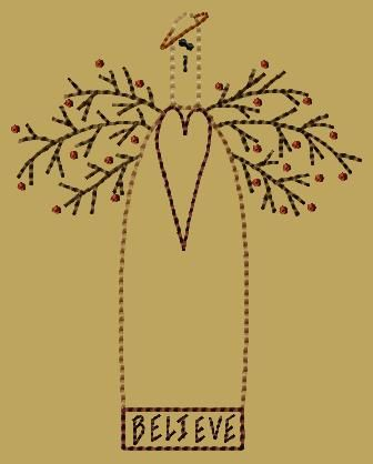 PK174 Sara Version 2 - 5x7 - $8.00 : Primitive Keepers, Prim Machine Embroidery Designs