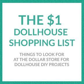 You'll be amazed at what dollhouse supplies you can find for making your own DIY dollhouse furniture and accessories at the dollar store!