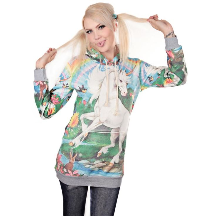 There cant be too much unicorns! Lovely new hoodie! http://www.cybershop.fi/product/10737/yksisarvinen-huppari