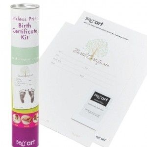Buy an Belly Art Inkless Print Birth Certificate from Living Online