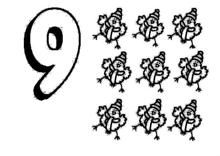 Animal Numbers Nine Nueve