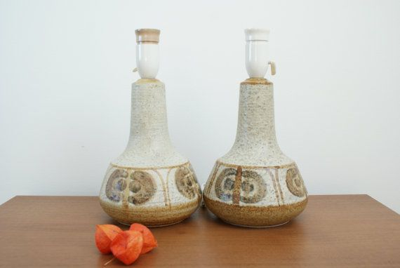 A pair of lamp bases from Søholm  Soholm  by Danishartpottery
