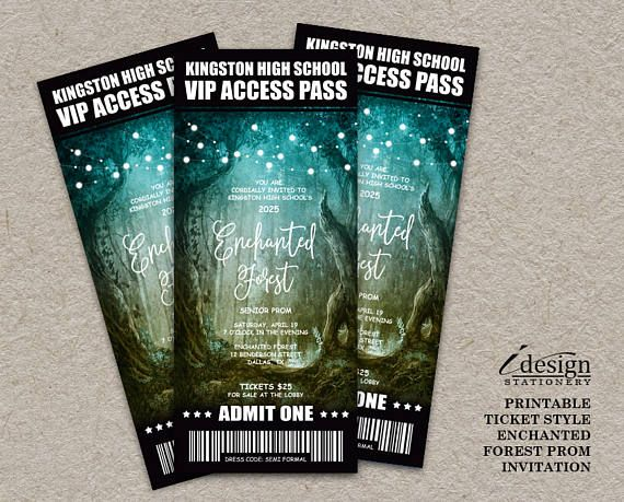 36 best Prom Invitations,Tickets And Flyers images on Pinterest - prom tickets design