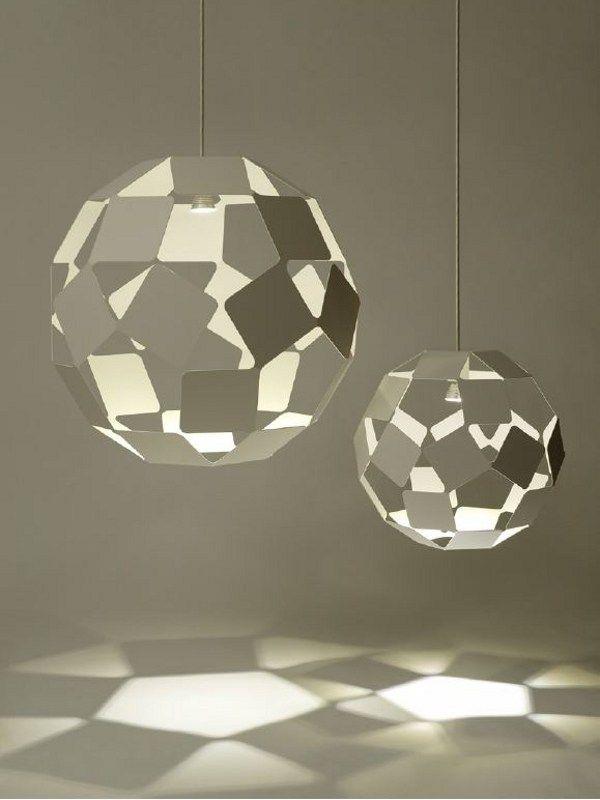 Steel pendant #lamp DANCING SQUARE LAMP by @Josh Lam Milton Editions  | #design Nendo