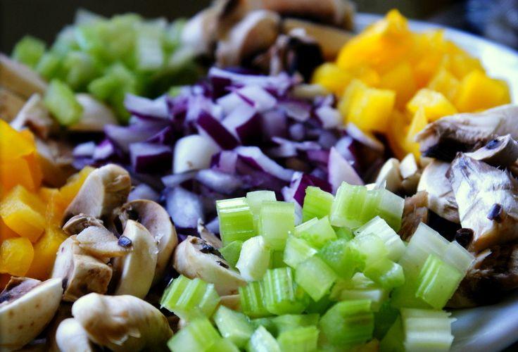 Zupa warzywna z grzybami
