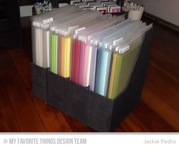 5 Days to an Organized Crafty Stash - Card Stock - use job ticket folders to keep cardstock organized and neat