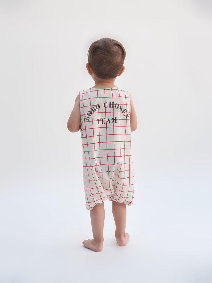 Bobo Choses SS17 Net Romper  Designer Baby Clothes  Tiny Style Australia