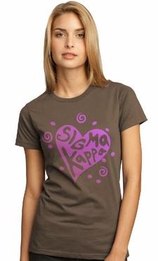 Sigma Kappa - symbol + name tee