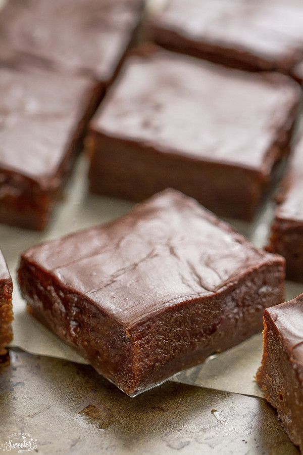 Lunch Lady Brownies are so fudgy and delicious.