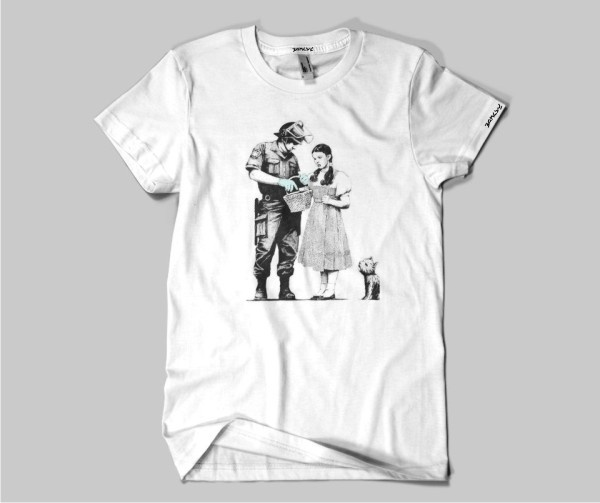 Banksy Stop and Search T-shirt    Simply Repin this T-shirt to be in with a chance of winning it!
