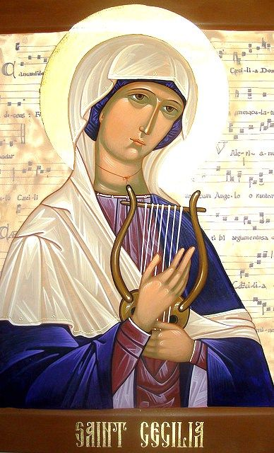 Have never seen this icon before. The background of musical notation is very odd, but also fitting. --with my thanks to Joan Rahn