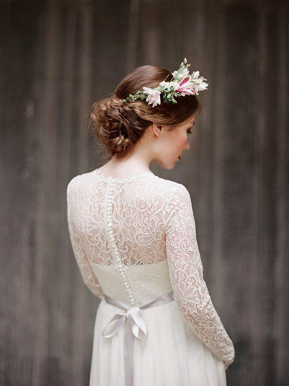 Long sleeved wedding dress - Milamira Bridal