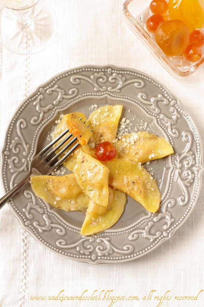 Ravioli zucca alla mostarda