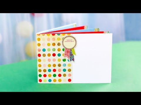 In this scrapbooking tutorial we'll show you a new idea of crafting a beautiful mini photo album that can keep safe your most favorite photos and notes of wonderful life moments! #photoalbum #scrapbooking #papercrafting