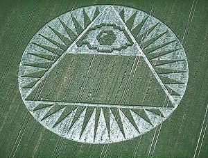 Pyramid with Eye of Horus, and Sirius rays. Unmistakable.