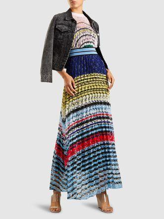537e26c9d7a MISSONI - Pleated Crochet-Knit Maxi Dress