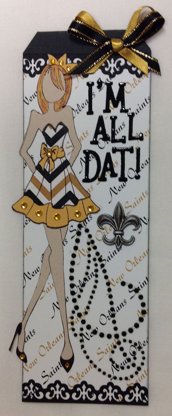 New Orleans SAINTS JULIE NUTTING Prima Paper Doll Tag by freyerann, $8.50