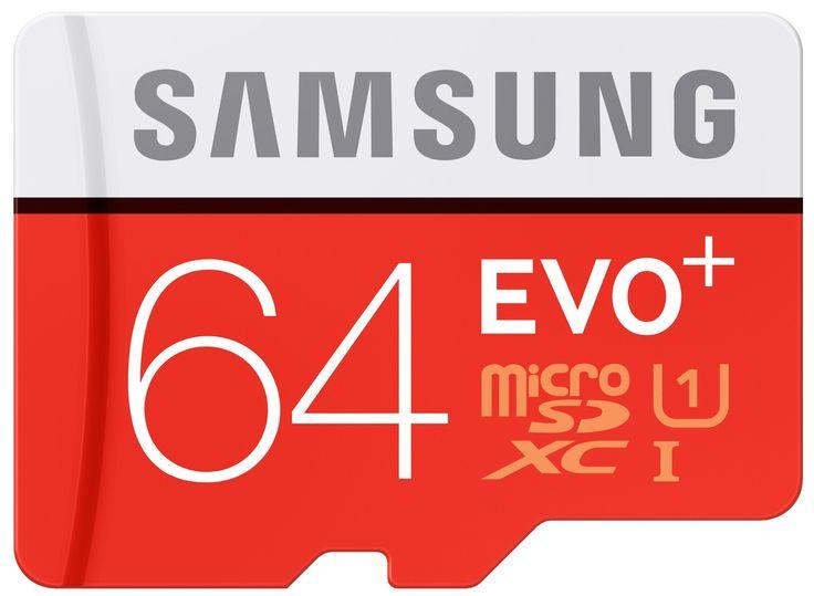 Samsung Speicherkarte MicroSDXC 64GB EVO Plus UHS-I Grade 1 Class 10 für Smartphones und Tablets, mit SD Adapter