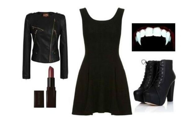 modern DIY vampire costume idea, see more at http://diyready.com/diy-vampire-costume