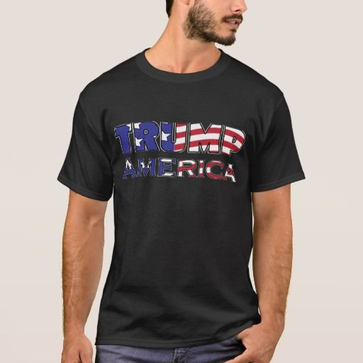 Trump American Flag Text T-Shirt $30.65 #TrumpAmerica Trump America in Flag Text! President Trump 2016 The Donald Does it! President Donald J. Trump is now our 45th President of The United States of America! God Bless America, A fresh start for a new nation, taken back by their People! Now to straighten out our Nation and to make America Safe, Strong, Aware, and Great Again! Visit our store and our Americana Collection for more AMERICA Patriot designs!