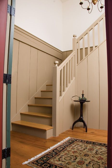 Custom Stairs and Wide Pine Wall Boards